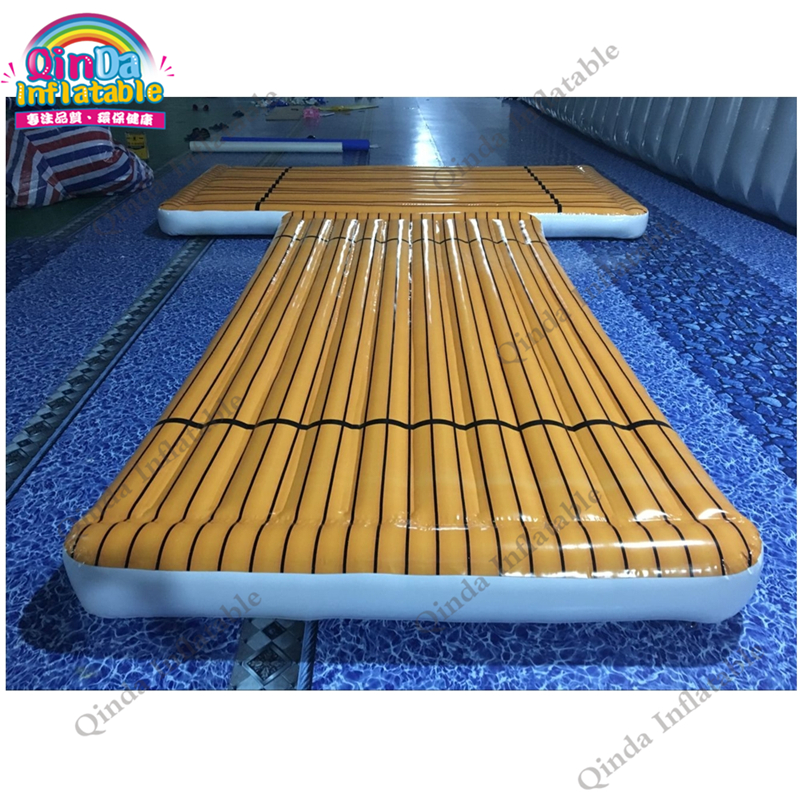 Factory price water platform exercise mat inflatable deck air deck inflatable gym mat floating platform for swimming environmentally friendly pvc inflatable shell water floating row of a variety of swimming pearl shell swimming ring