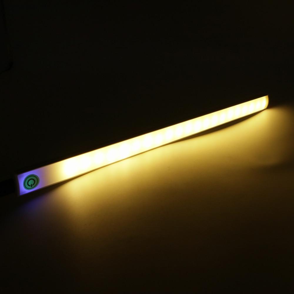 USB Touch sensor Bar Light 30CM ultra thin Under Cabinet Light touch dimming for Closet Kitchen Bedroom Night Light