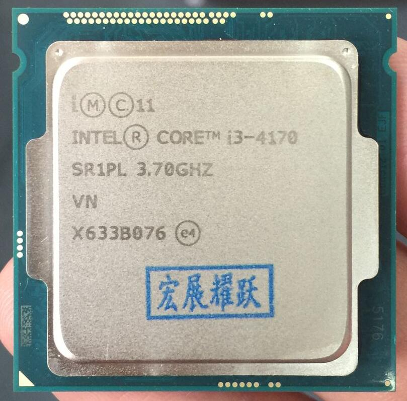 Intel Core Processeur I3 4170 I3-4170 LGA1150 22 nanomètres Dual-Core PC Ordinateur De Bureau CPU 100% fonctionne correctement