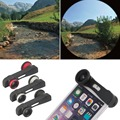 3in1 Wide Angle Macro Fish Eye Camera Lens for iPhone 6 plus 5.5 inch NEW