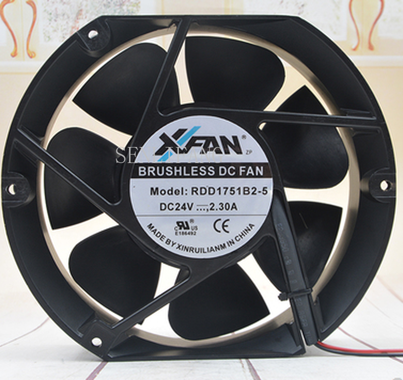 Free Shipping RDD1751B2-5 Axial Cooling Fan DC 24V 2.3A 4200RPM 17251 17cm 172*150*51mm 2 Wires