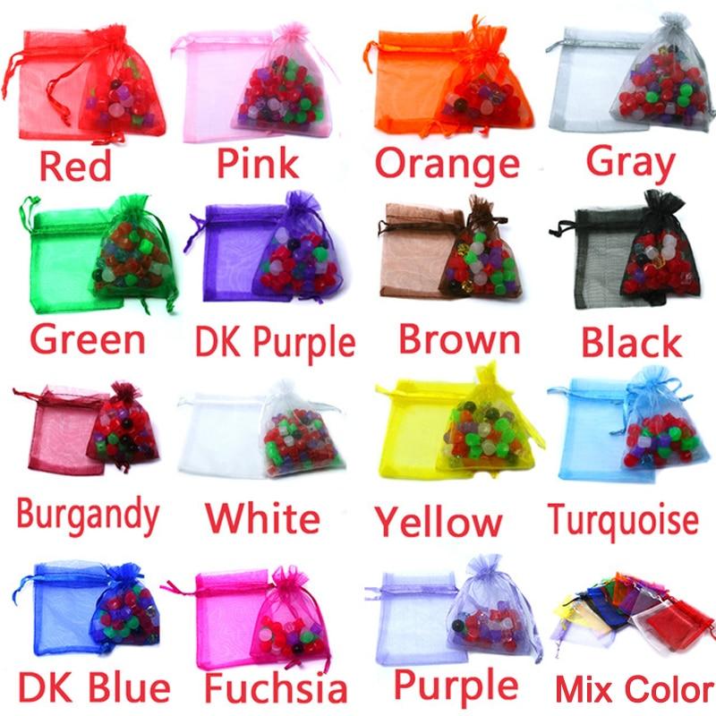 7-30 cm Mix Maat 16 kleuren 10 stks / partij Kleine Organza Tassen - Feestversiering en feestartikelen
