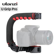 Ulanzi U-Grip Triple Cold Shoe Mount Stabilizer Handle Grip Rig Photo Studio Set with Microphone for DSLR Nikon Canon Smartphone(China)