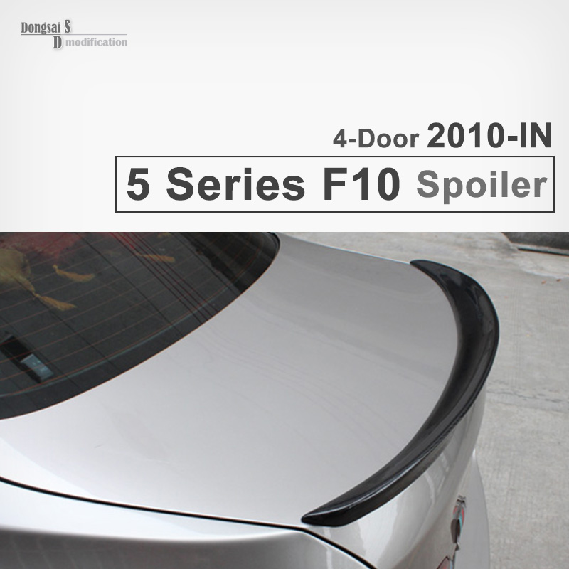 Car decorative for BMW 5 series F10 sedan vehicles M performance P style rear trunk spoiler wings 2010 + 520i 523i 525i 528i yandex w205 amg style carbon fiber rear spoiler for benz w205 c200 c250 c300 c350 4door 2015 2016 2017