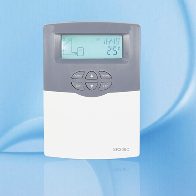 Solar Water Heater Controller SR208C for split solar water heating system,low price with high quality