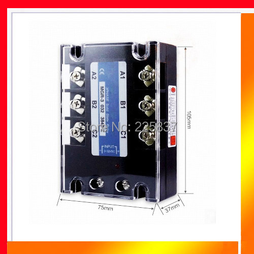 цена на Free shipping high quality TSR-200DA 3-32v DC to 380v AC relay 3 phase 200A SSR, 200A solid state relay, 200A relay