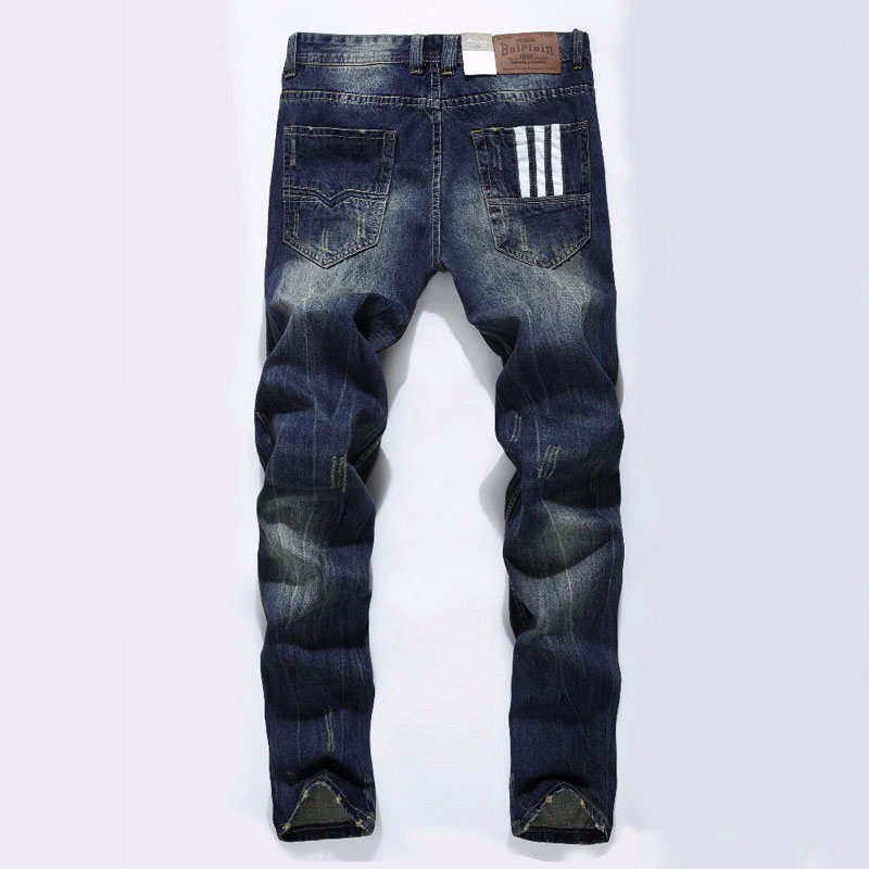 Moda Ballen Designer blugi bărbați Brand celebru Ripped blugi Denim bumbac Jeans bărbați casual pantaloni blugi imprimate, C9003