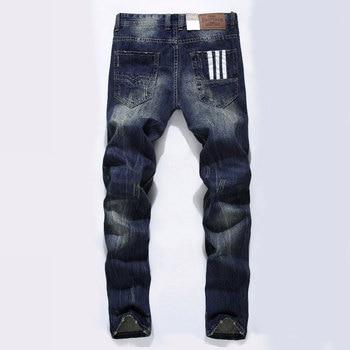 цена Fashion Balplein Designer jeans men Famous Brand Ripped jeans Denim Cotton Jeans Men Casual Pants printed jeans , C9003 онлайн в 2017 году
