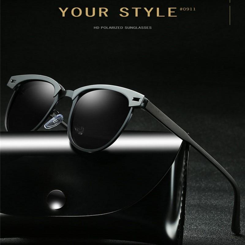 d688e1392e5aca Acheter 100% Polarisées lunettes de Soleil Hommes Femmes MARQUE CONCEPTION  Classique Conduite Alliage Carré Cadre Soleil Lunettes Mâle Lunettes UV400  Gafas ...