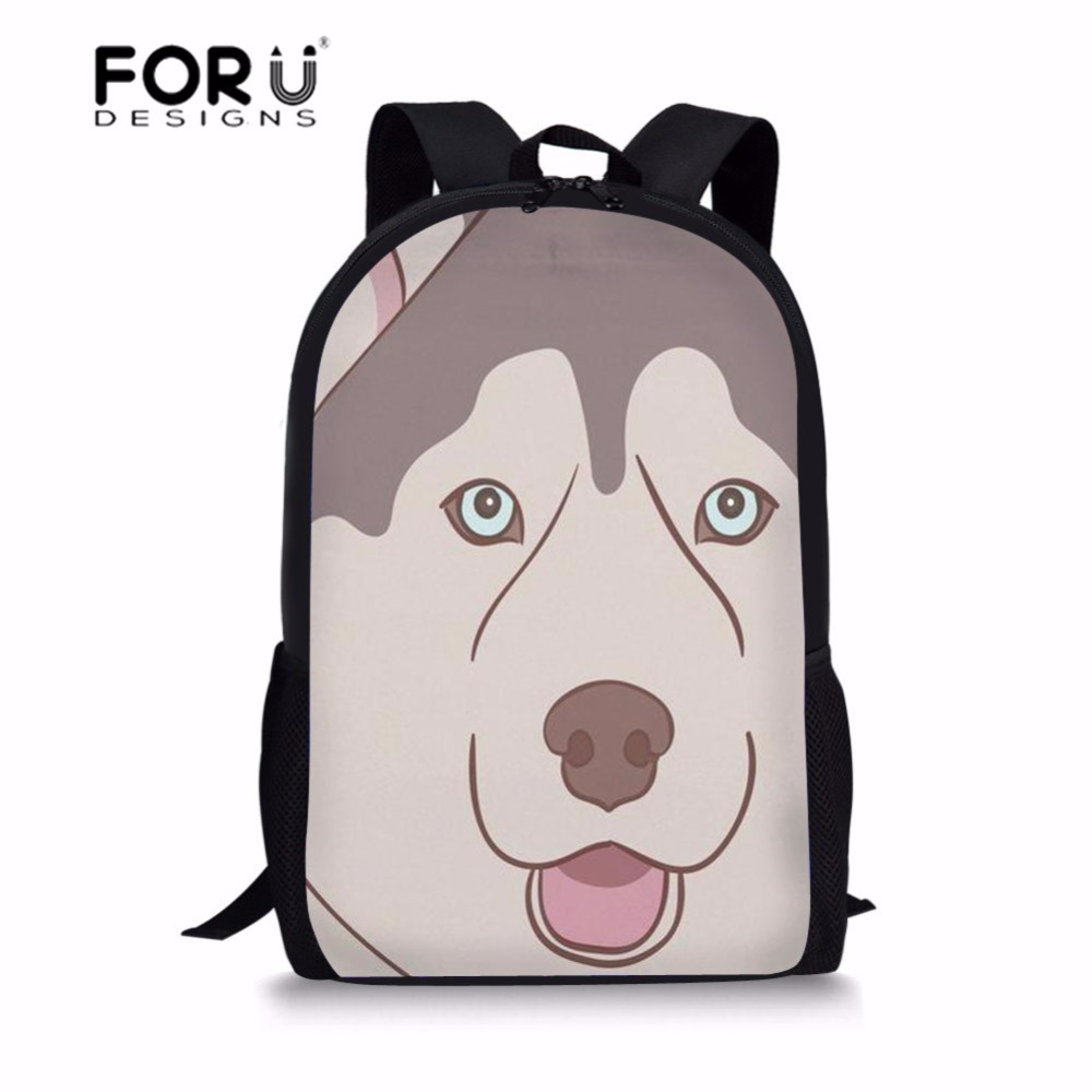 FORUDESIGNS School Bag Backpack Schoolbag Husky Dog Print Kids Baby Bags Children Backpacks for Girls Student Book Bag Rucksack