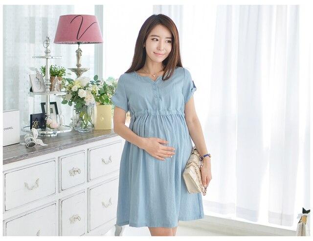 0127ee29f 2015 nuevo verano embarazadas maternidad vestidos ropa Casual embarazo para  ropa de algodón mujeres de moda