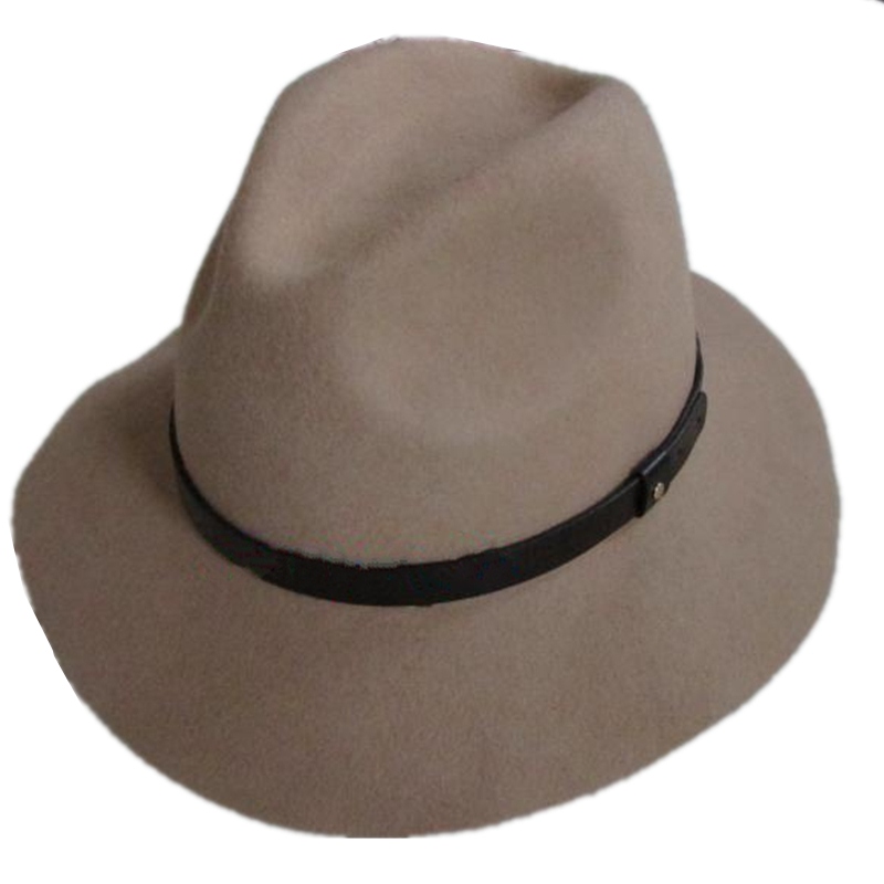 Light Brown Women s Wool Felt Fedora Hat Leather Band-in Fedoras from  Apparel Accessories on Aliexpress.com  f80b2615e