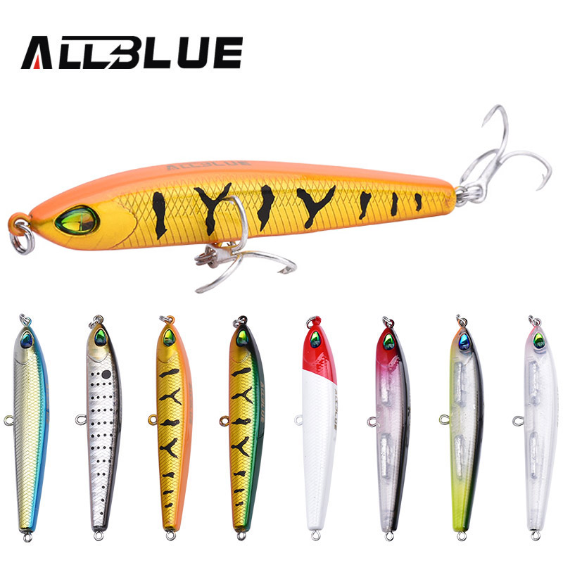 ALLBLUE 2017 <font><b>Thrill</b></font> Stick Fishing Lure 70mm/8.8g Sinking Pencil Longcast Shad Minnow 3D Eyes Artificial Bait Bass Pike Lures