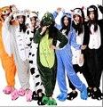 Das Mulheres dos homens de Inverno do Velo Adulto Cookie Monster Pikachu Unicorn Dinosaur Ponto Urso Panda Raposa Adulto Girafa Onesie Tigger Onesie