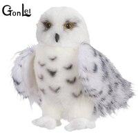 GonLeI Calidad Premium Blanco Como la Nieve de la Felpa Juguete Búho Hedwig Grande Pulgadas Adorable Peluche Suave Regalo Perfecto para Aves