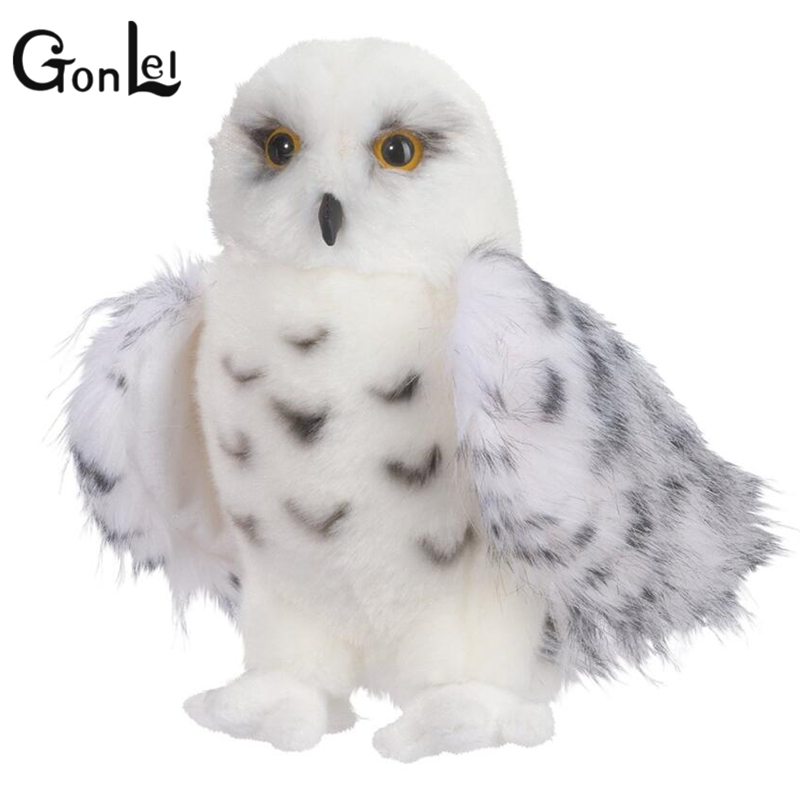 GonLeI Premium Quality Snowy White Plush Hedwig Owl Toy Large 12-Inch Adorable Stuffed Animal Soft Perfect Gift Idea for Bird