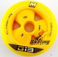 free shipping speed skating wheels matter wheels G13 yellow