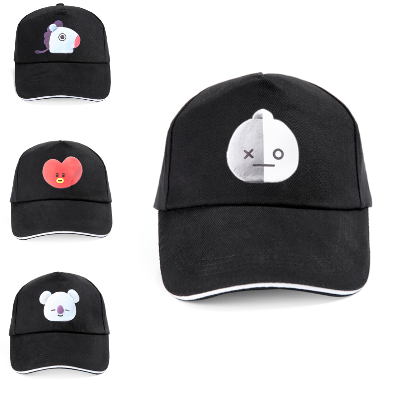 Online Shop Newest BTS BT21 Baseball Cap Women Fashion Dad Hats BTS Fans  ARMY Cap Female High Quality Hat Cap 8 Styles Black Kpop Cap  9b08f0167f6b
