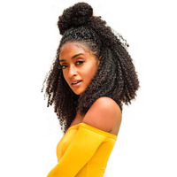 Афро кудрявый парик предварительно сорвал 360 Синтетические волосы на кружеве al парик 130% плотность 22,5x4 Синтетические волосы на кружеве чело