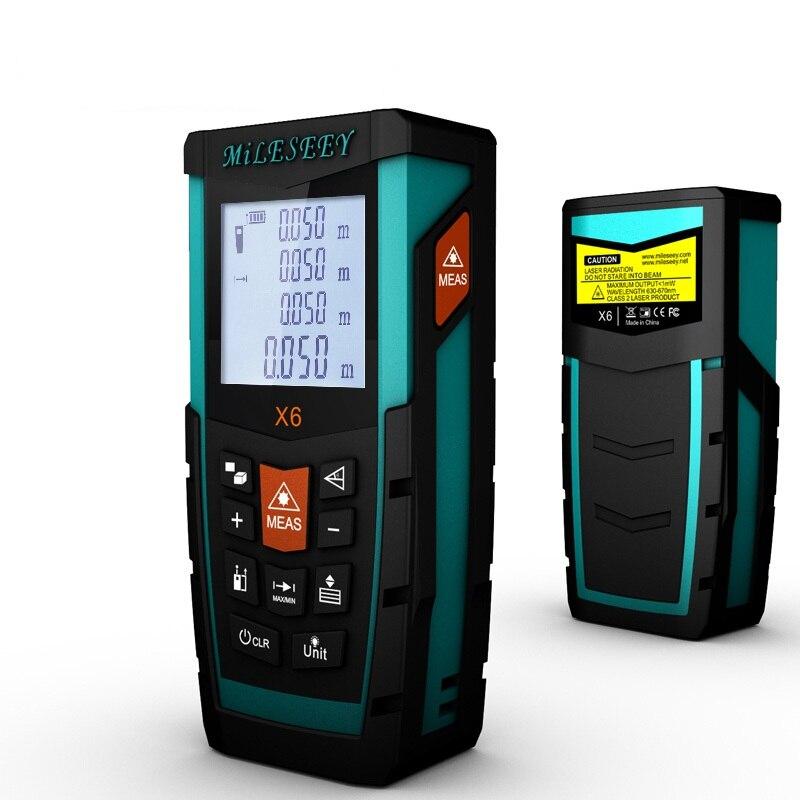 Tools Laser Distance Meter X6 50M 70M 100M Distance Measurer Meter Rangefinder Power Button Device cptcam cp3000 ultrasonic distance measurer red black 1 x 9v