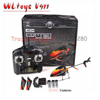 WL RC Helicopter V911 Red Blue And Orange 2 4g 4ch Outdoor Rc Toys