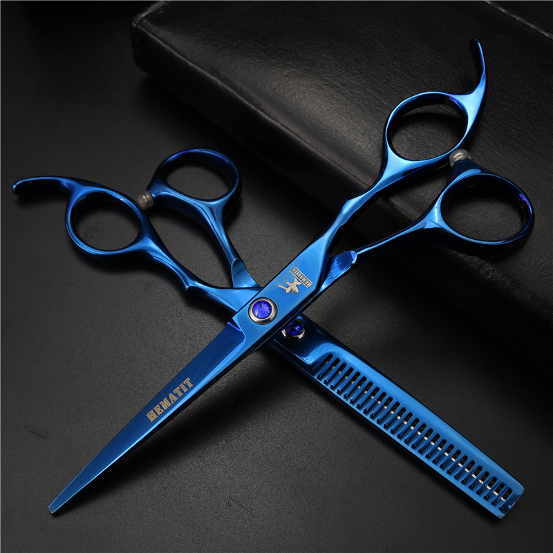 Blue 6-inch Hair Salon Haircut Very Cheap Hairdressing Scissors And Pet Scissors Hair Tools Household Pet Hair Trimming Tools