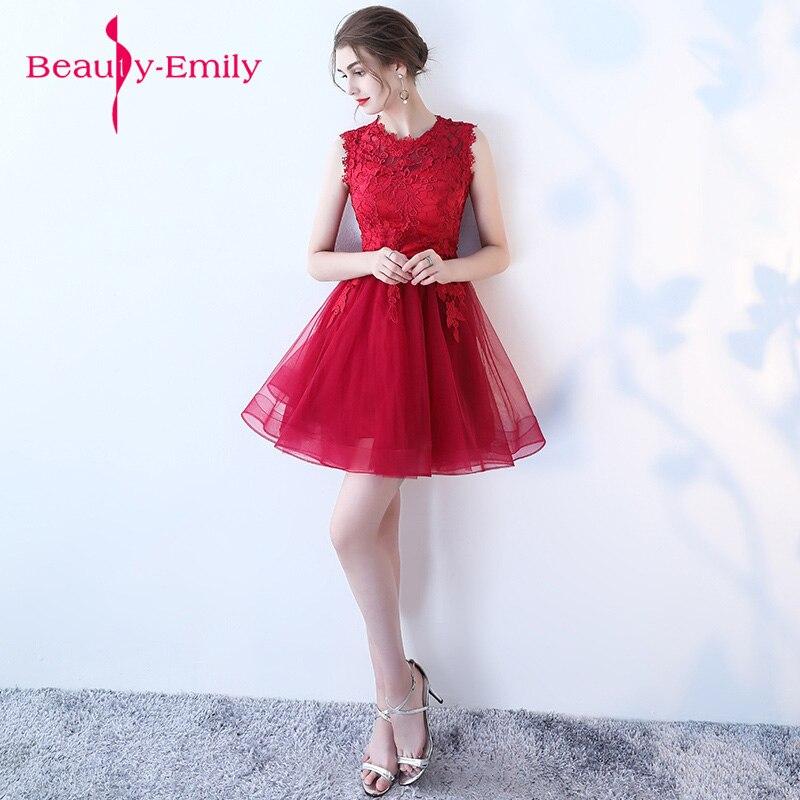 Junior robe de bal dentelle nouvelle robe de soirée beaucoup de couleur disponible dentelle courte robe de soirée formelle 2018 robes de bal vestido de festa - 4