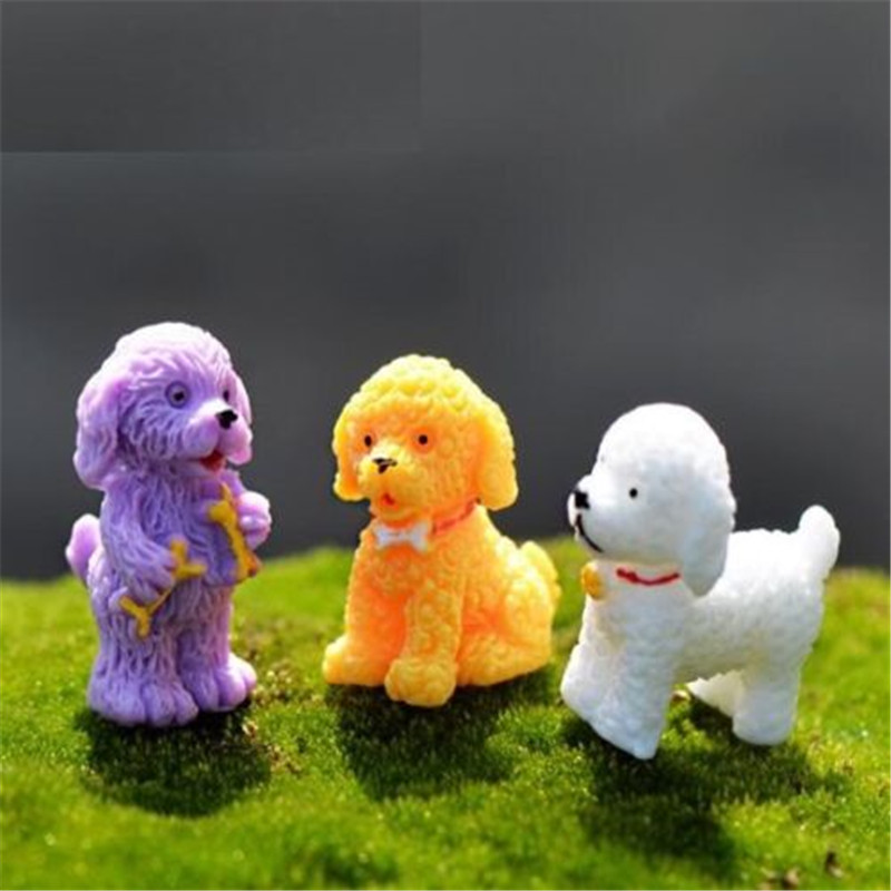 EatingBiting(R) X1 Miniature Dollhouse Poodle Dog Garden Craft Fairy Bonsai Plant DIY Decor