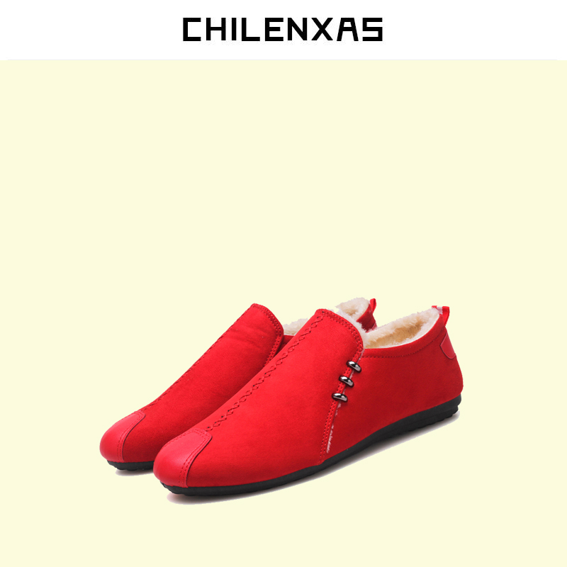CHILENXAS 2017 New Fashion Pig Suede Leather Shoes Men Casual Breathable Slip-on Spring Autumn Waterproof Comfortable Light 2017 new spring british retro men shoes breathable sneaker fashion boots men casual shoes handmade fashion comfortable breathabl
