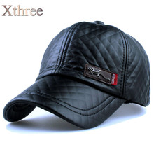 Xthree fall faux snapback baseball hat casual cap wholesale winter leather