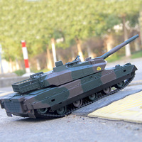 RC Tank Remote Control Tank Rechargeable 1/20 9CH 40CM Camouflage 27Mhz Infrared Electric Toys For Boys Birthday Gifts
