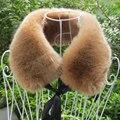 2015 la moda de invierno Faux Fox cuello de piel de mapache del conejo tapas mantón de la bufanda de la mujer del abrigo de la estola artículo falso chales chales
