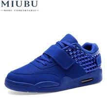 MIUBU Men Casual Shoes Suede Leather Men High Top S