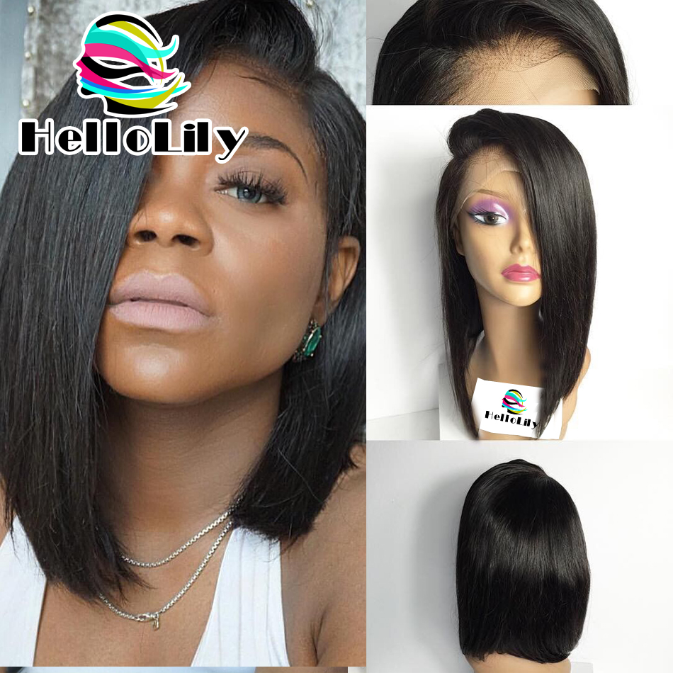 Large Stock 14 Inch Side Part Lace Front Wigs Bob Style