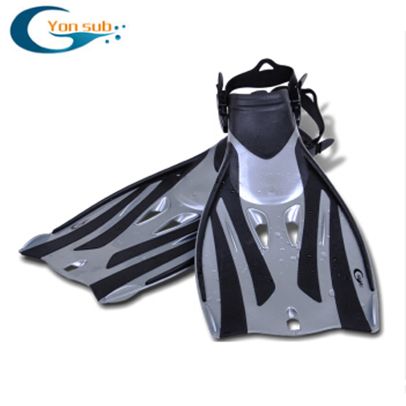 High Quality Open Heel Adult Diving Flippers Non-slip Adjustable Diving Fins For Swimming Snorkelling Free Shipping