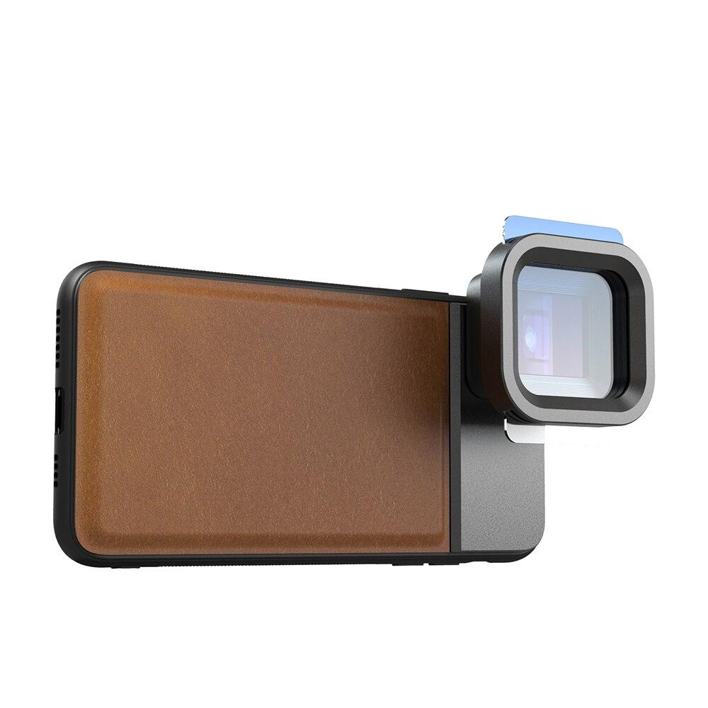 Moveski pran 1.33x lente anamorphic câmera do telefone celular grande scree lente filme telefone óptico lente para iphone android smartphone - 4