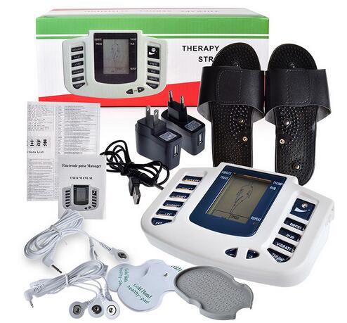 Healthsweet Electrical Muscle Stimulator Body  Slimming Massager massage pulse tens Acupuncture Therapy Machine+8 Electrode Pads 2017 hot sale mini electric massager digital pulse therapy muscle full body massager silver