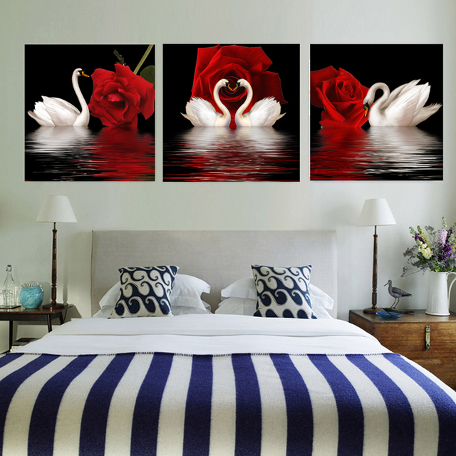No Frame Swan Poster Canvas Quadro Cuadros Decoracion Quadros Painting Home Decor Posters Canvas Painting Wall  For Living Room