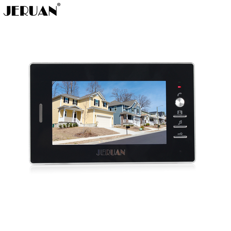 JERUAN 7 inch color video door phone intercom system only monitor 720B + power adapter jeruan 7 inch video intercom door phone system only monitor indoor unit power adapter free shipping 724