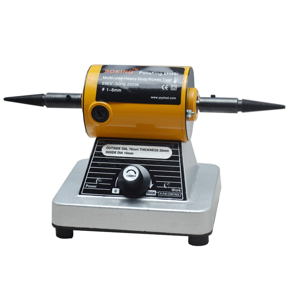 Goxawee 10000rpm Mini Bench Grinder Polishing Grinding Machine Bench Lathe Buffing Machine For