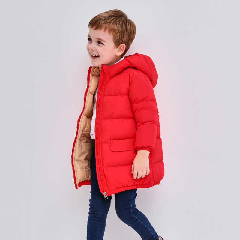 Children Down Jacket Russia Winter Jacket For Girls&Boys 90%White Duck Down Kids Outerwears For Cold -30 degree Jacket Warm Coat russia winter boys girls down jacket boy girl warm thick duck down