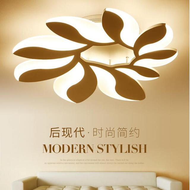 New Design Modern LED Ceiling Lights Flower Shape Remote Dimmable Lamp For Living Room Bedroom