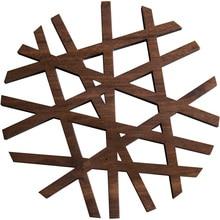 Лазерная полая прихватка Североамериканская черная ореховая изоляционная чашка коврик подстилка 3 вида на выбор