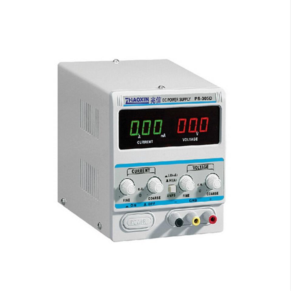 Zhaoxin DC Питание для лаборатории ps-305d переменная 30 В 5A Регулировка Цифровой Регулируемый DC Питание