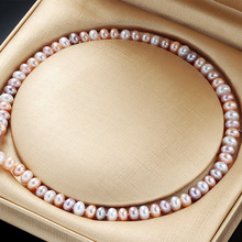 Natural Freshwater Pearl Necklace For Women Elegant Real Pearl Necklaces