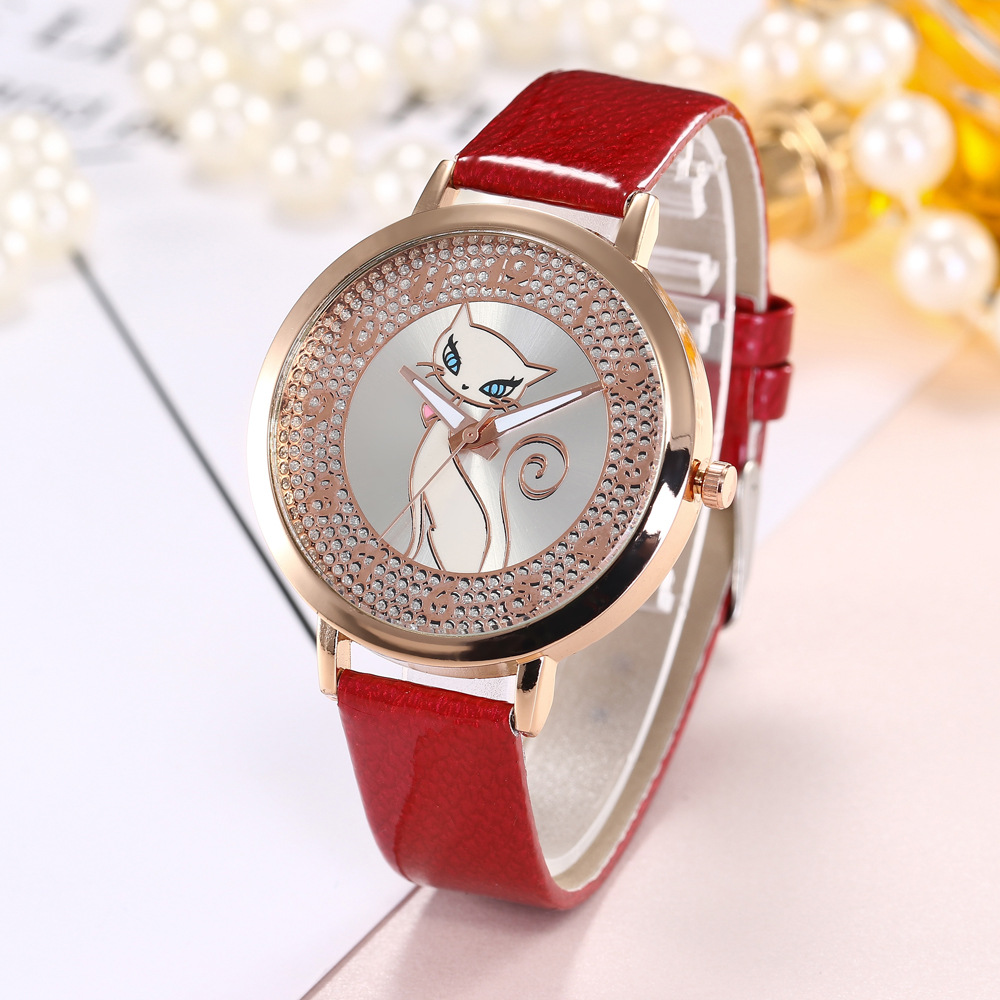 Creative Watches Laides Color Changing Leather Quartz ...