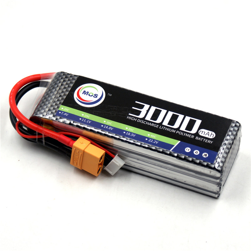 MOS 4S RC Lipo battery 14.8v 3000mAh 25C For rc airplane drone car AKKU free shipping mos 2s rc lipo battery 7 4v 2600mah 40c max 80c for rc airplane drone car batteria lithium akku free shipping