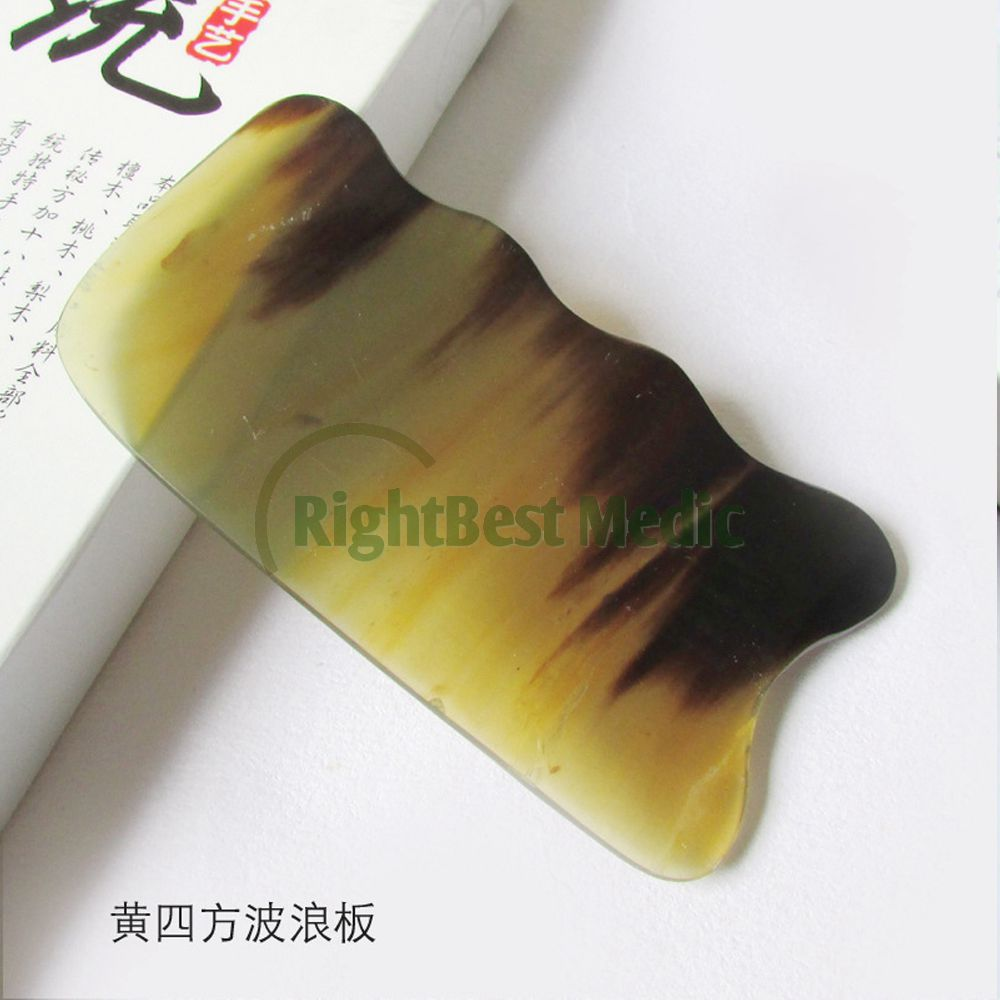 Yellow BUFFALO HORN Gua Sha Board Health Care Massage Scrape guasha plates Slimming Guasha Massage Tools buffalo horn guasha board massage guasha board horn gua sha massage board scraping plate buffalo horn