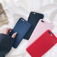 DOYAEL Luxury Back Matte Soft Silicon Case For IPhone 6 6s 7 7P Case Full Cover