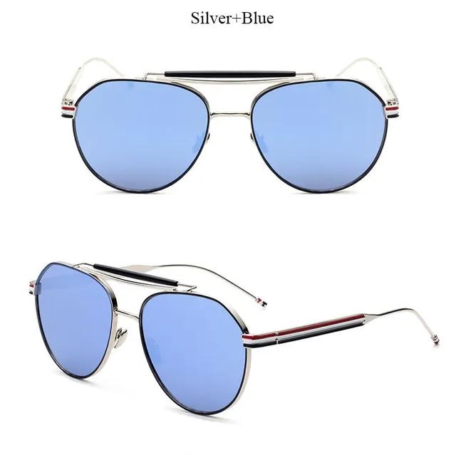 2019 New Fashion Sunglasses Men Cool Women Pilot Brand Thom Designer Flat Top Lady Female Sun glasses Metal Frame High Quality